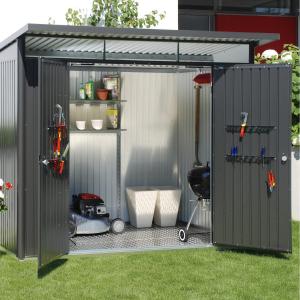 Abri de jardin métal - Avantgarde - 2 portes - taille XL - 260 x 300 x 217 cm