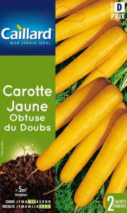 Carotte jaune Obtuse du doubs - Graines- Caillard