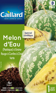 Melon d'eau a graine rouge et à chair verte - Caillard