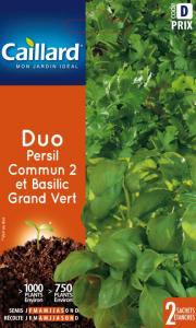 Duo persil commun/basilic grand vert - Caillard