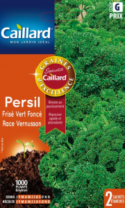 Persil frisé vert foncé Vernusson - Graines - Caillard