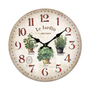 Horloge Le Jardin saveur - ENESCO - ∅ 28 cm