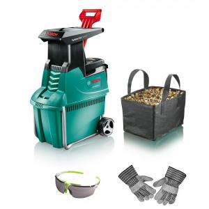 Broyeur de végétaux - Bosch - AXT 2550 TC + sac + gants + lunettes