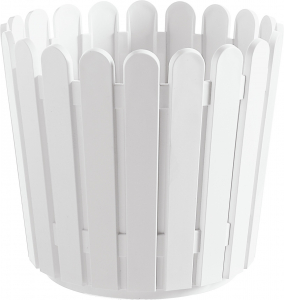 Pot à fleurs rond blanc Landhaus EMSA - Dia. 30 x 27 cm