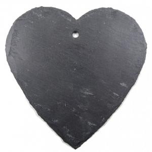Etiquette coeur en ardoise - Comptoir Botanique - 14 x 14 cm