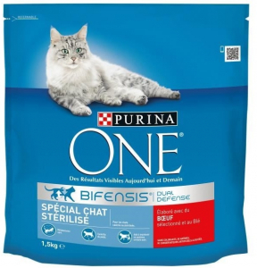 Croquette spécial chat stérilisé - Purina One - boeuf - 1.5 kg