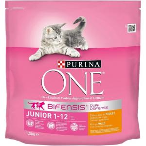 Croquette pour chaton junior de 1 à 12 mois - Purina One - poulet - 1.5 kg