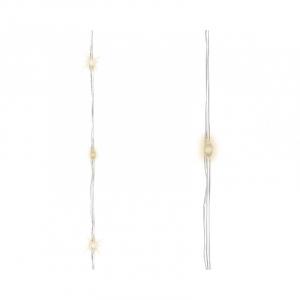Guirlande Microled - 240 leds - 8 Fonctions - Blanc chaud - 12 m - Câble argent