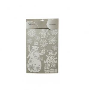 Stickers boules - Blanc/Pailettes - 50 X  30 cm