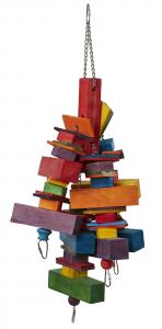 Jouet Multi Wood Square pour perroquets - A suspendre - 20 x 50 cm