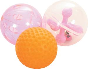 Jouet chat 3 sphères 4 cm - Zolux