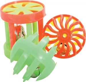 3 jouets multi-formes 4 cm pour chat - Zolux