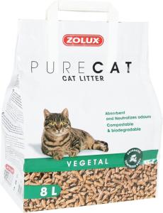 """Litière végétale naturelle """"Pure Cat"""" 8 L - Zolux"""