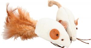 2 jouets souris Canvas pour chat 5 cm - Zolux