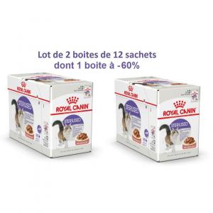 Bouchées en sauce pour chat stérilisé -Royal Canin - lot 2 boîtes de 12 sachets
