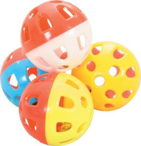 Jouet chat 4 sphères grelot 3cm - Zolux