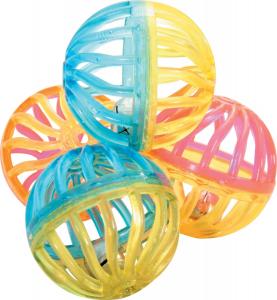 Jouet chat 4 sphères grelot 4 cm - Zolux