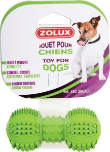 Jouet caoutchouc Dental haltère 8 cm Zolux - Jouet à mordre pour chien