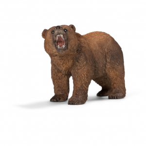 Figurine Ours Grizzly - Schleich - Marron - 11 x 4.5 x 6.5 cm