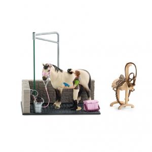 Figurine Box de lavage pour chevaux - Schleich - 19 x 11 x 17.2 cm