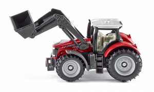 Tracteur Massey Ferguson avec chargeur frontal - Siku - 1/64
