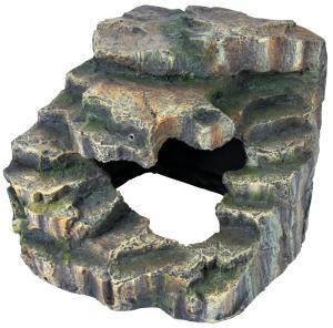 Rocher d'angle avec grotte et plateforme- Reptiland - Trixie - 19 x 17 x 17 cm
