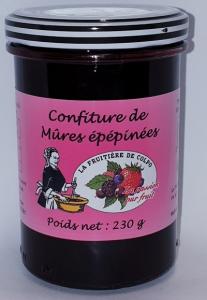 Confiture de cassis épépinées - La Ferme Fruitière de Colpo - 230 gr