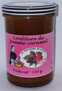 Confiture pomme caramel - La Ferme Fruitière de Colpo - 230 gr
