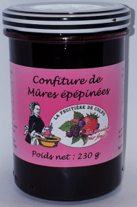Confiture de mûres épépinées - La Ferme Fruitière de Colpo - 230 gr