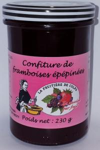 Confiture de framboises épépinées - La Ferme Fruitière de Colpo - 230 gr
