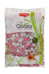 Graviers vernis - Déco Quartz - Tyrol - Fuschia/gris - Sac de 2 kg
