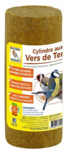 Cylindre Prêt à l'emploi aux vers de terre pour oiseaux - Natures Market - 850 gr