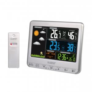 Station météo WS6826-WHI-SIL - Écran LCD coloré - Argent