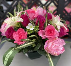 Coupe roses, lys et pivoines - Artificiel
