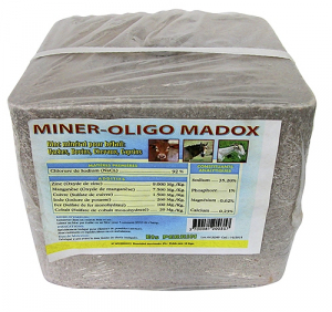 Bloc minéral Miner-oligo pour bétail - Perrin Madox - 10 kg