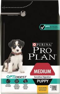 Croquettes pour chiens Medium puppy sensitive digestion Optidigest - Proplan - poulet - 3 kg
