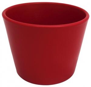 Cache pot d'intérieur - Horticash - rouge - H 9 cm
