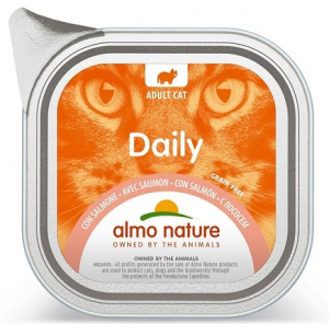 Daily mousse pour chats - Almo nature - saumon - 100 gr