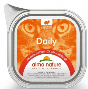 Daily mousse pour chats - Almo nature - boeuf - 100 gr