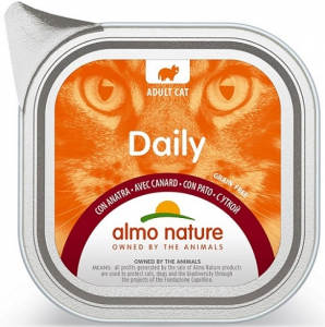 Daily mousse pour chats - Almo nature - canard - 100 gr