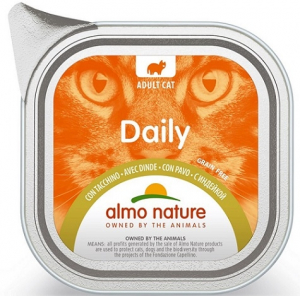 Daily mousse pour chats - Almo nature - dinde - 100 gr
