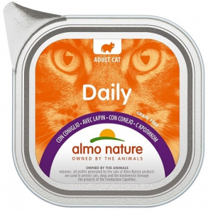 Daily mousse pour chats - Almo nature - lapin - 100 gr