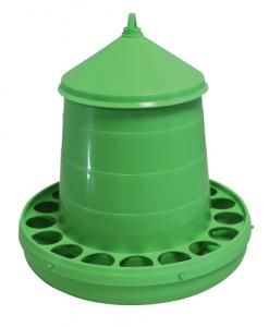 Nourrisseur plastique réglable à trémie - 2 kg - Vert