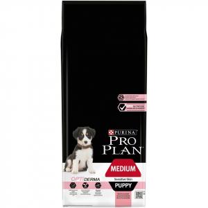 Croquette pour chiens Medium puppy sensitive skin Optiderma - Proplan - saumon - 12 kg