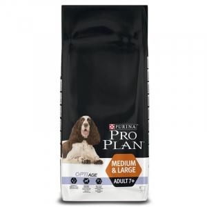 Croquette pour chiens adult 7+ medium & large Optiage - Proplan - poulet - 14 kg