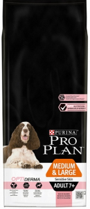 Croquette pour chiens adult 7+ medium & large sensitive skin Optiderma - Proplan - saumon - 14 kg