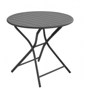 Table guéridon ronde pliante - Gris - Ø80 cm