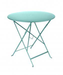 Table pliante Bistro - Fermob - Ø 77 cm - Bleu Lagune
