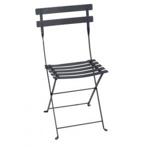 Chaise pliante Bistro - Fermob - Métal - Carbone