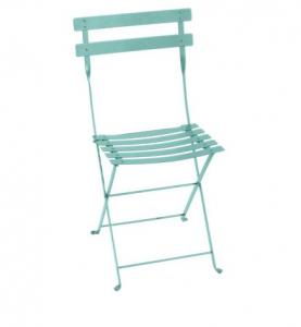 Chaise pliante Bistro - Fermob - Métal - Bleu Lagune